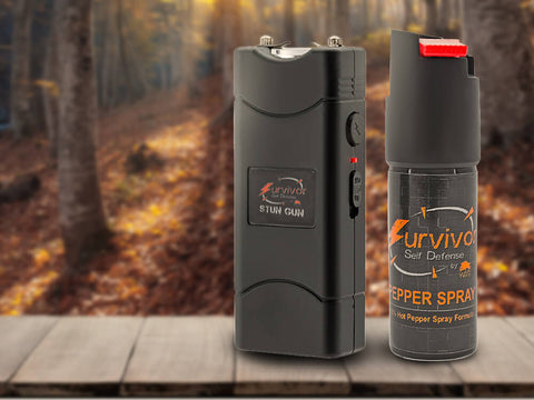Pepper Spray Stun Gun Combo