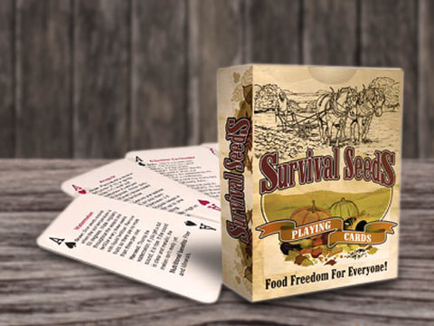 Image of Survival Seeds Playing Cards