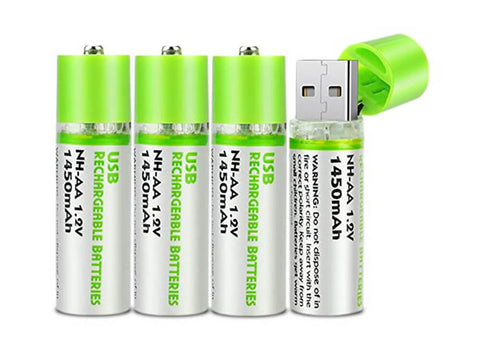 Ultra Charge USB Battery Pack of 4