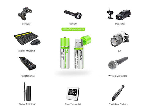 Image of Versatile use of our Ultra Charge USB Batteries displaying what it can be used in
