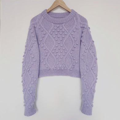 Diamonds and Pearls sweater strikkeopskrift fra popknit hos Knit Garden.