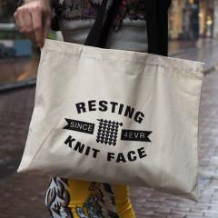 Westknits Resting Knit Face Tote Bag
