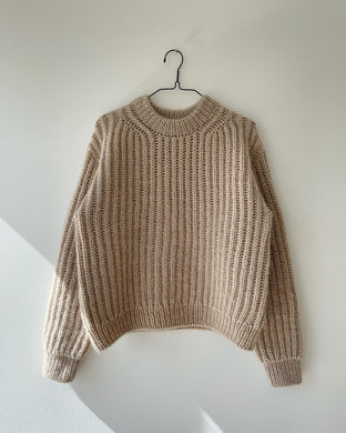 Strikkeopskrift til September Sweater fra PetiteKnit