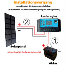 Laden Sie das Bild in den Galerie-Viewer, FALTBARES OUTDOOR-SOLARPANEL ⚡️150W