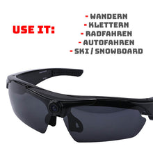 Laden Sie das Bild in den Galerie-Viewer, OUTDOOR BRILLE MIT FULL HD KAMERA