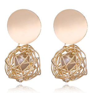 Fashion Earrings Ball Geometric Earrings for Women Hanging Dangle Earrings Drop Earring Modern Jewelry