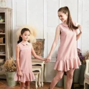 Set of 2 Drop Waist Dress Vieux Rose - Robes