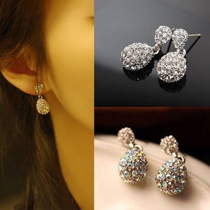 Cute Lady Crystal Rhinestone Dangle Style Ear Studs Earrings Gifts