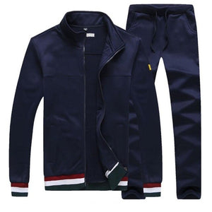 Sweatshirts Casual Men Fashion Tracksuit Jackets + Pants Men's Sweater Autumn & Winter - Robes