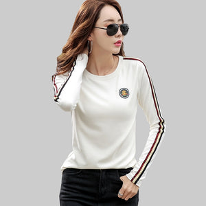 shintimes Long Sleeve T Shirt Women 2019 Cotton T-Shirt Female Korean Style Woman Clothes Plus Size Tshirt Vogue Tee Shirt Femme - Robes