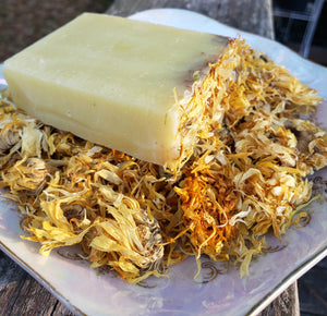 Soap-Live by the Sun with Calendula flowers