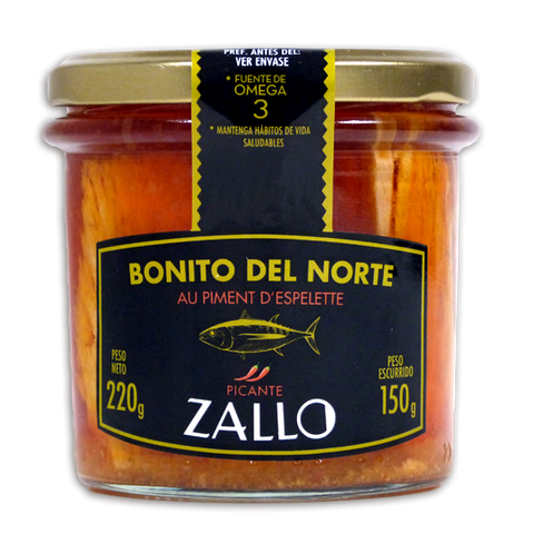 Bonito del Norte in Espelette Pepper and Olive Oil by Zallo - 225g Jar