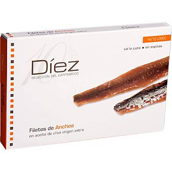 Diez Bay of Biscay Anchovies, by Don Bocarte. 120g. (14-16 fillets)