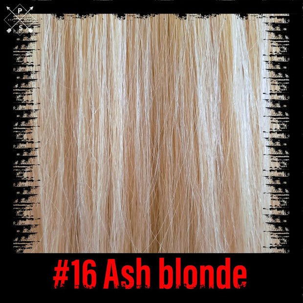 Ash blonde hair extensions