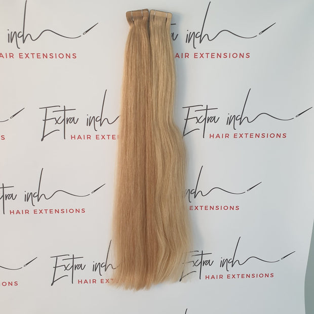 European tapes hair extensions blonde