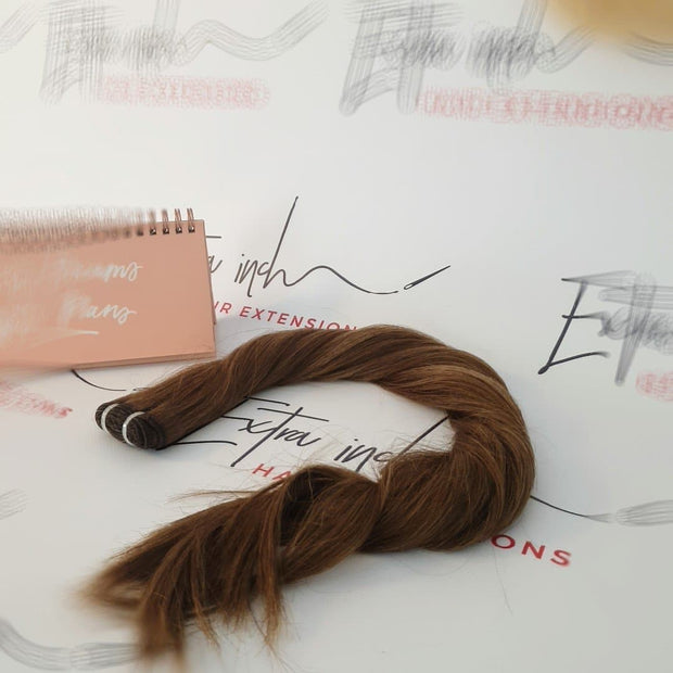 22' EUROPEAN weft remy hair extensions 50G