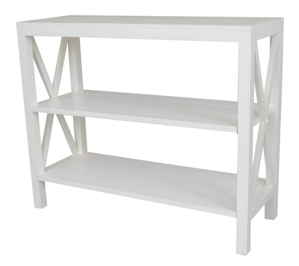 Catalina Crossed White Console