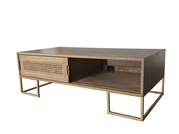 Coffee Table with Sliding Door