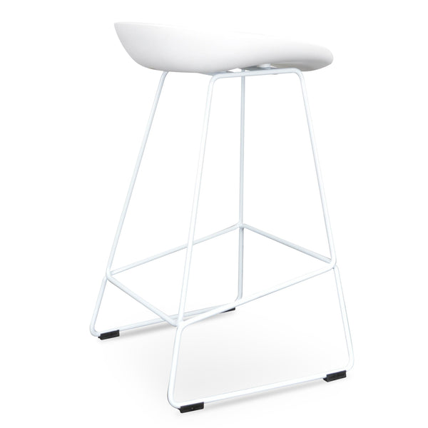 Allen Bar Stool - White 65cm