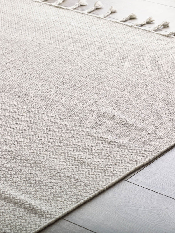 Braid Kilim Rug in Ivory