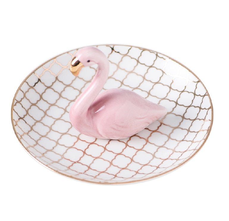 Flamingo Trinket Tray-The Essence of Home