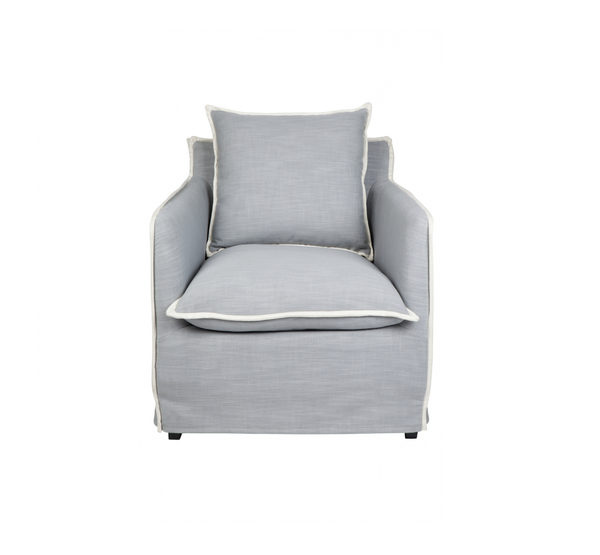 Long Island Arm Chair in Dove Grey