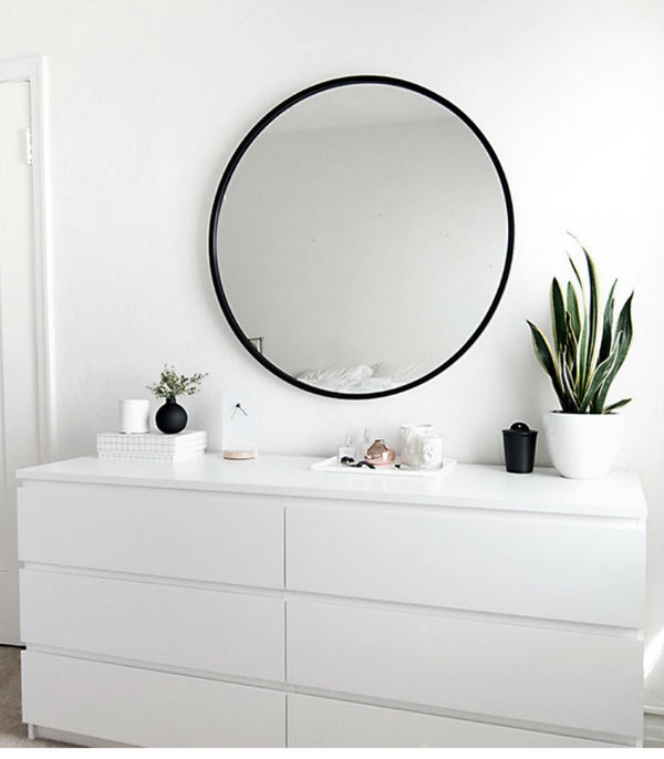 Luna Rounded Mirror in Black
