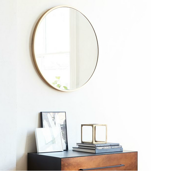 Luna Rounded Mirror in Gold