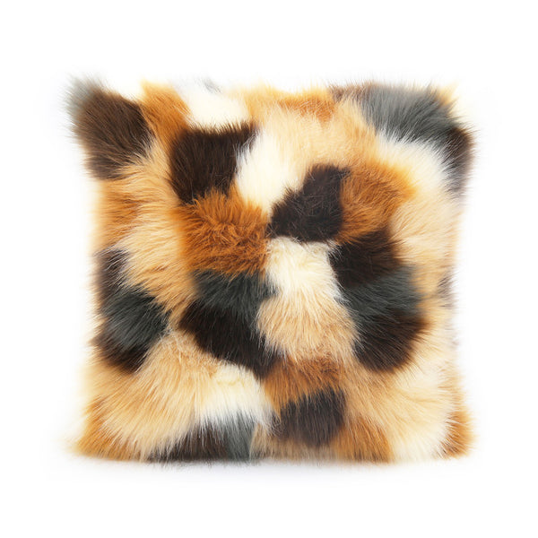 Rochelle Fur Cushion in Autumn