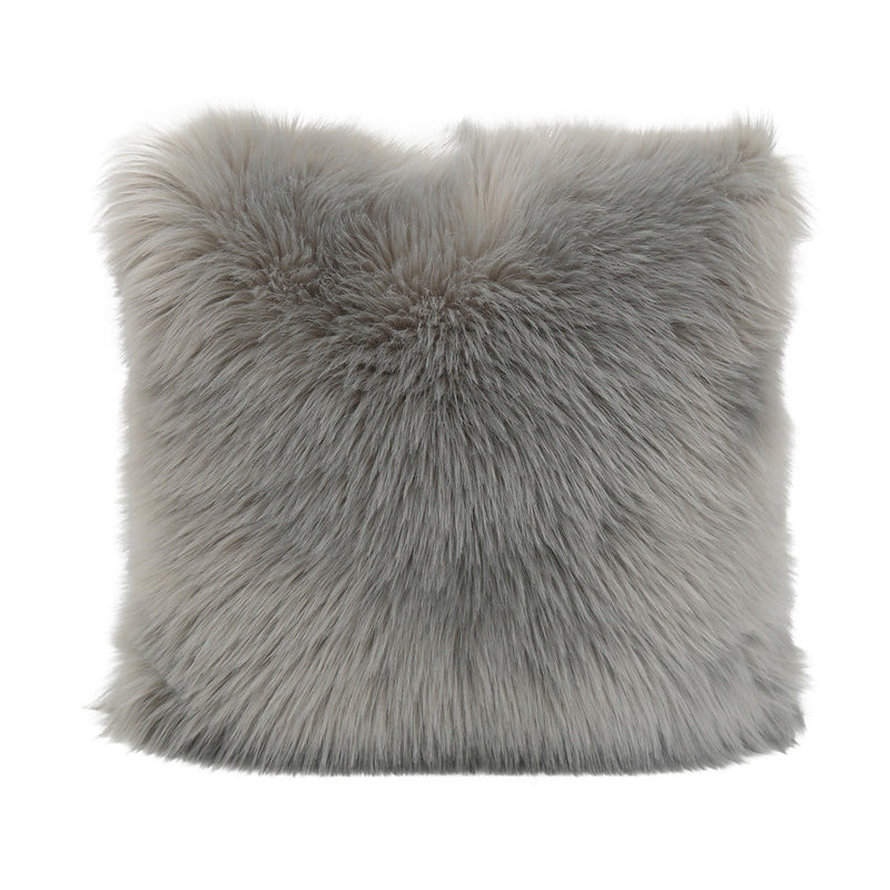 Rochelle Fur Cushion in Charcoal