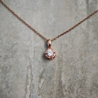 Bridal Studded Pendant Necklace