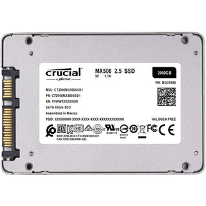 crucial mx500 2tb ssd CT2000MX500SSD1 front