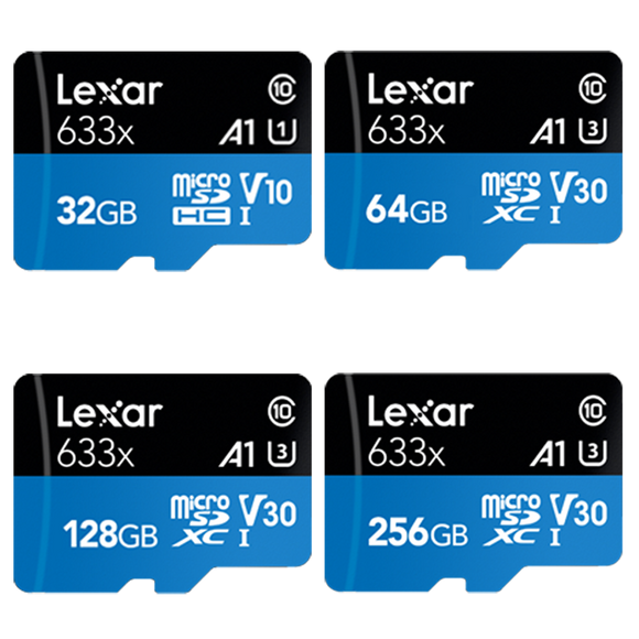 lexar high-performance 633x series gb micro sd card front
