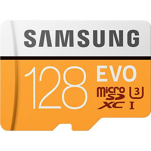 samsung evo 128gb micro sd memory card mb-mp128ga front