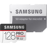 samsung pro endurance microsd card 128gb MB-MJ128G front with sd adapter