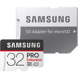 samsung pro endurance microsd card 32gb MB-MJ32G front with sd adapter
