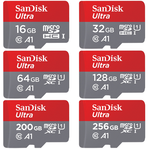 sandisk ultra a1 series gb micro sd card front