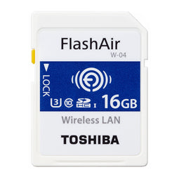 toshiba flashair w-04 series gb wireless sd card front