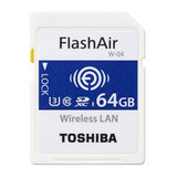 toshiba flashair w-04 64gb wireless sd card THN-NW04W0640E6 front