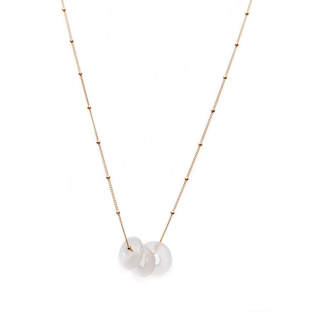 Mini Triple Necklace Clear