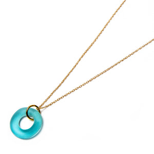 Mini Simple Necklace Aqua