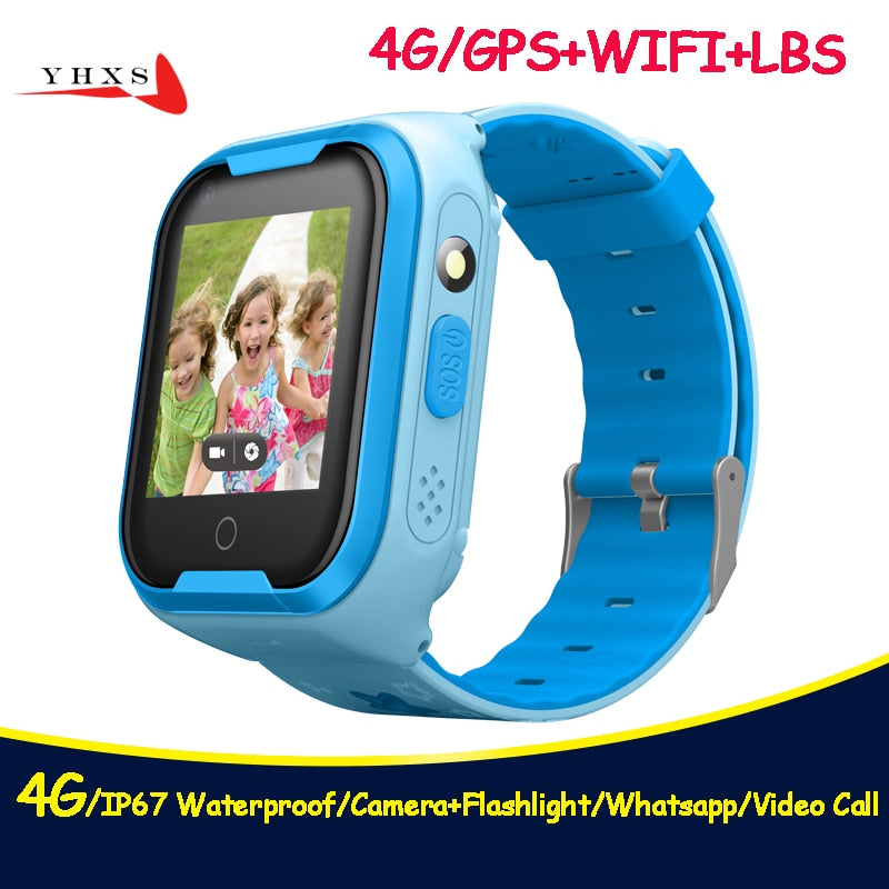 508a76791d80 Kids GPS Watch 4G WI-FI SOS Video Call Monitor Tracker Location ...