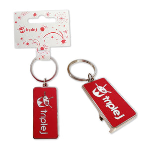 triple j Bottle Opener Keyring
