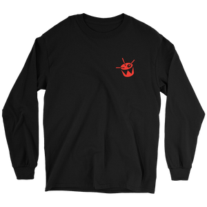 triple j Drum Logo Long Sleeve (Black w/ Red)