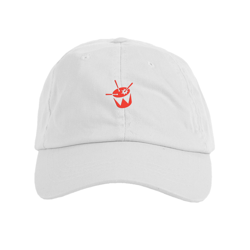 triple j Embroidered Drum Logo Cap (White)