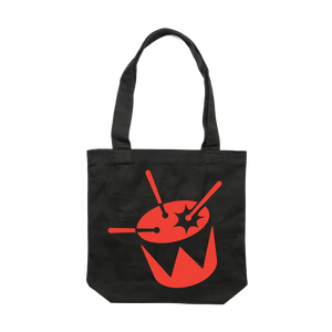 triple j Drum Logo Tote (Black) // PREORDER
