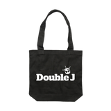 Double J White on Black Tote