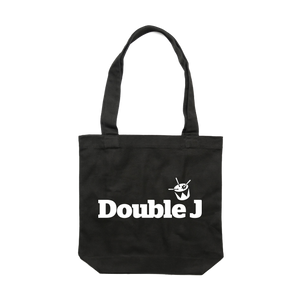Double J White on Black Tote // PREORDER