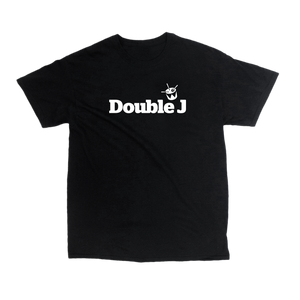Double J White on Black Tee