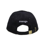 Rage Embroidered Corduroy Cap (Black)